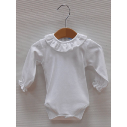 BODY ML CUELLO VOLANTE BLANCO