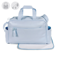 BOLSO MATERNAL NEW COTTON CELESTE