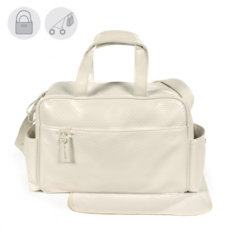 BOLSO MATERNAL NEW COTTON BEIGE
